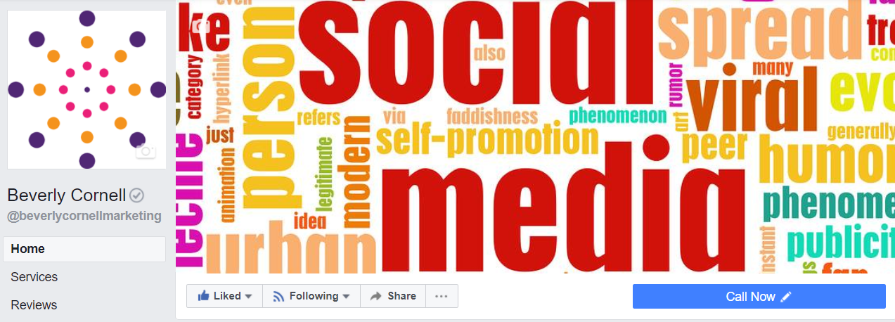 An example of a profile and cover photo.